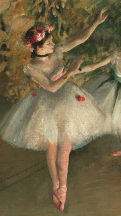 A man telling the story to crowd a beautiful painting by Goya